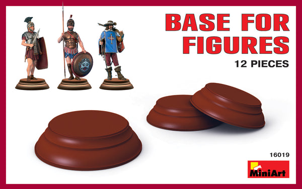 MiniArt 1/35 Bases for Figures, 12 pieces | MA16019