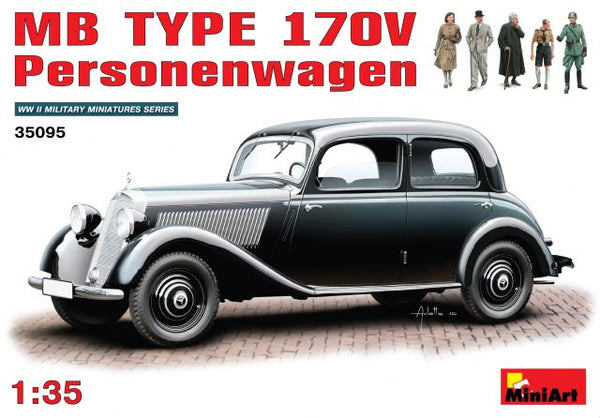 MiniArt 1/35 German Mercedes-Benz 170 V Personenwagen | MA35095