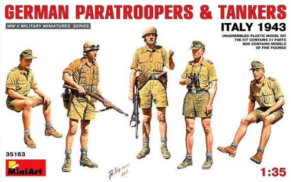 MiniArt 1/35 German Paratroopers & Tankers Italy 1943 | MA35163