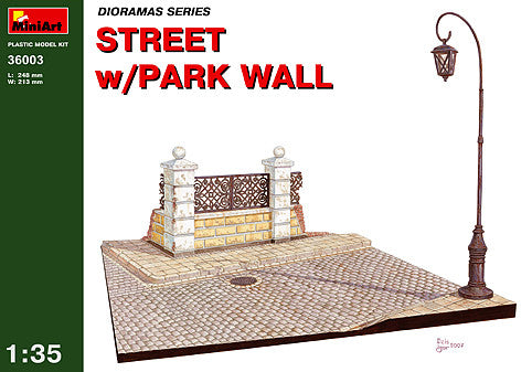 MiniArt 1/35 Street with Park Wall | MA36003
