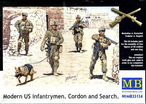 Master Box 1/35 Modern US Infantryman Cordon and Search | MB35154