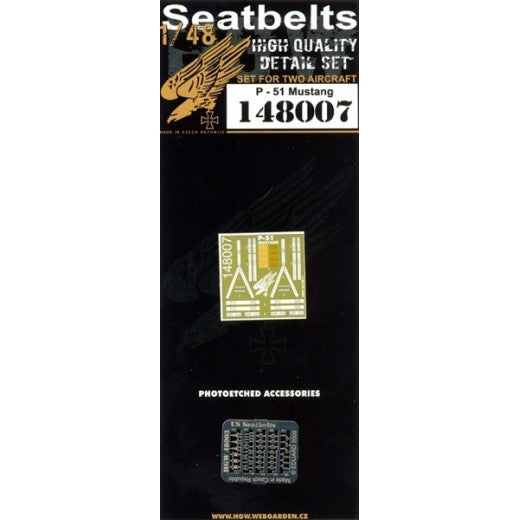 HGW 1/48 P-51D Mustang - Seatbelts | 148007