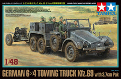 Tamiya 1/48 German 6x4 Towing Truck Kfz.69 - w/3.7cm Pak | 32580
