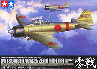 Tamiya 1/32 Mitsubishi A6M2b Zero Fighter Model 21 Zeke | 60317