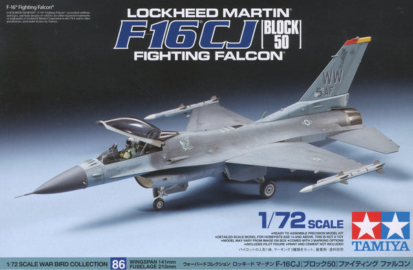 Tamiya 1/72 F-16CJ block 50 Fighting Falcon | 60786