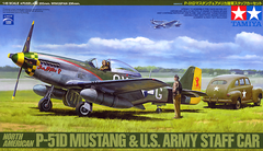 Tamiya 1/48 P-51D Mustang and Staff Car | 89732