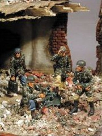 Warriors 1/35 Fallschirmjäger Mortar Team (4 Figuren) | 35418