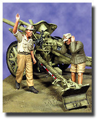 Warriors 1/35 German Artillerymen Set #1, Tropical | 35531
