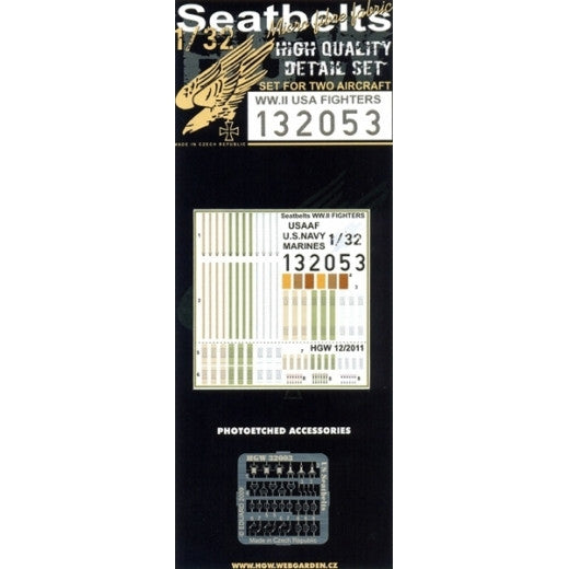 HGW 1/32 WWII US Fighters - Seatbelts | 132053