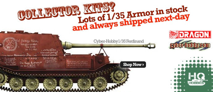 Biggest collection of Dragon 1/35 Armor model kits in stock.