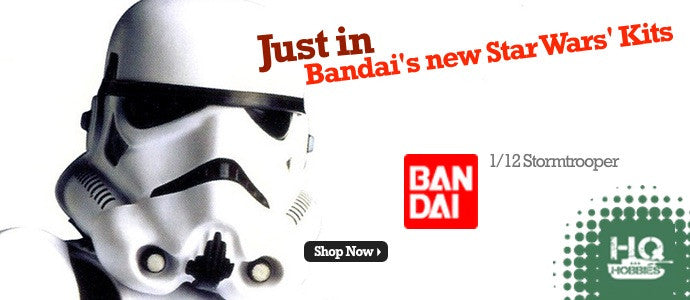 Click here to see the brand new Bandai Star Wars models....