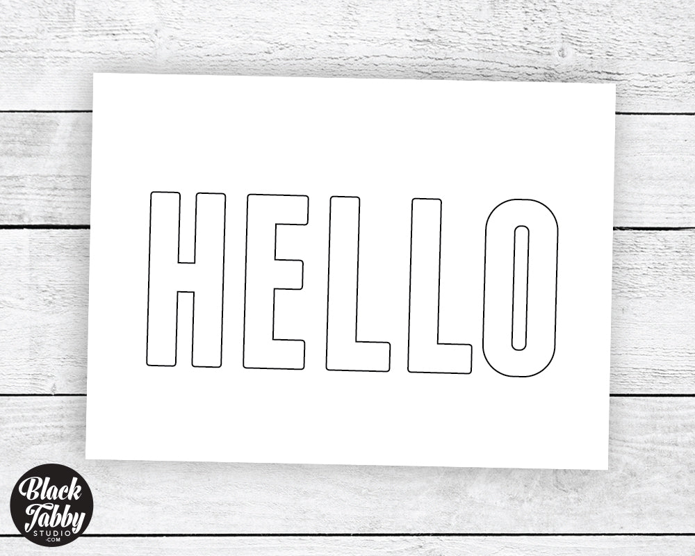 Free Printable Greeting Cards - Hello