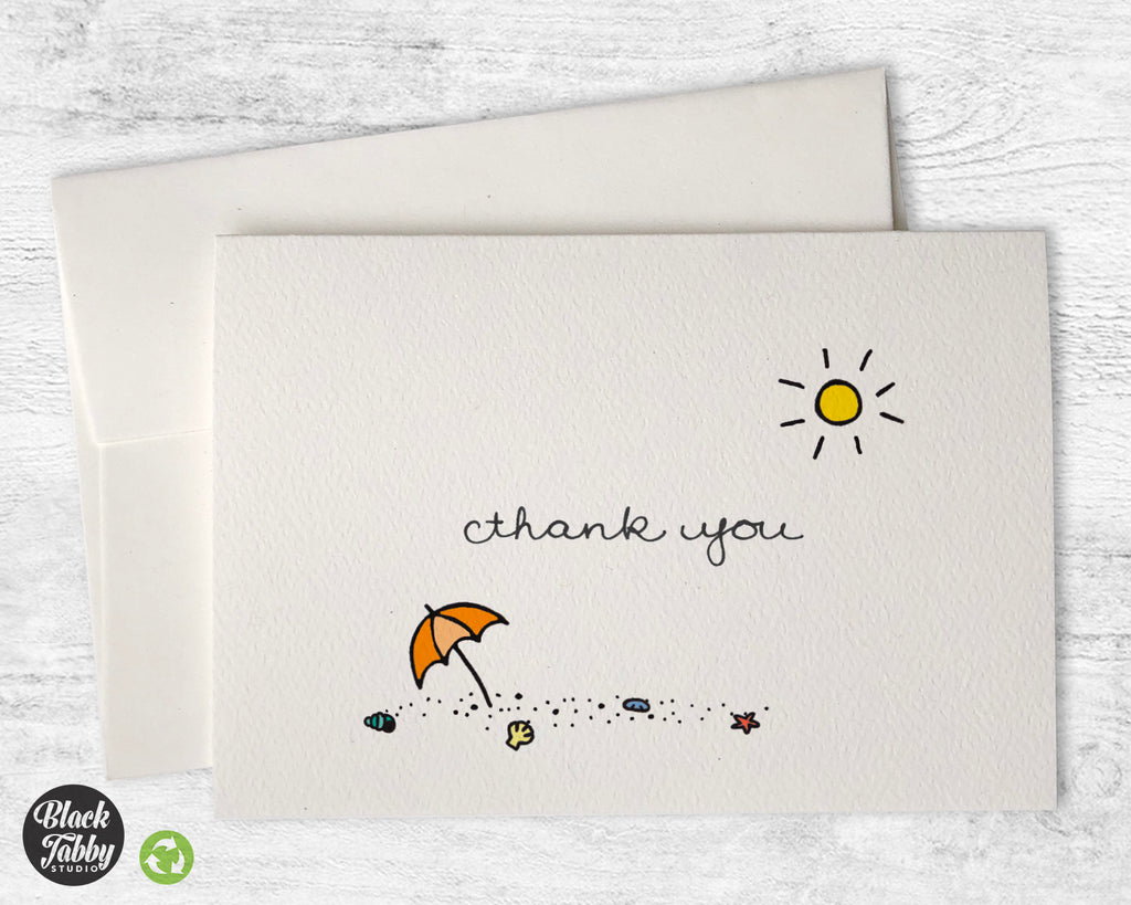 Beach Day - Thank You Cards