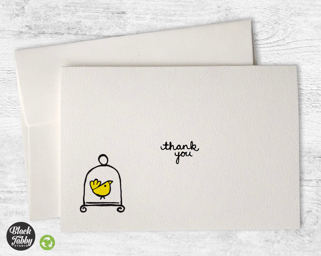 Little Yellow Bird - Thank You Cards