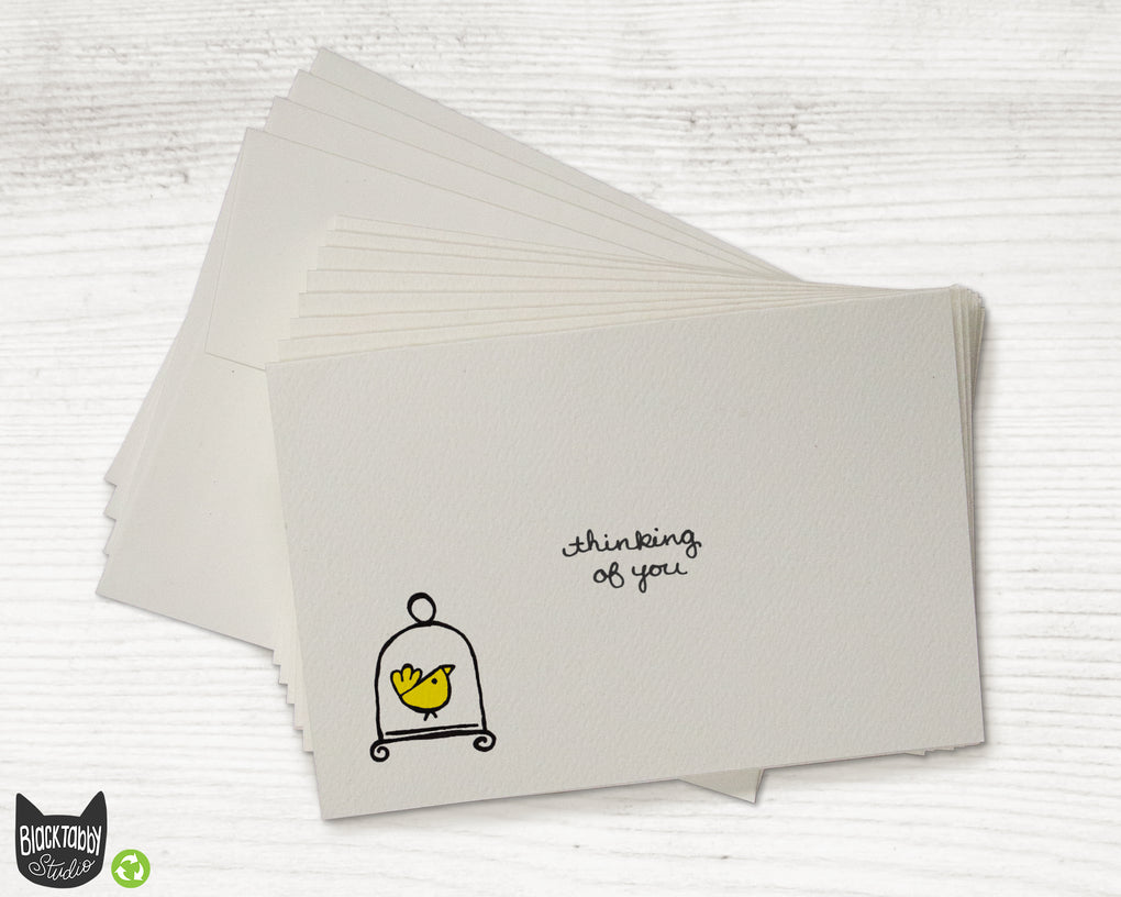 Little Yellow Bird - Thinking of You Greeting Card Set