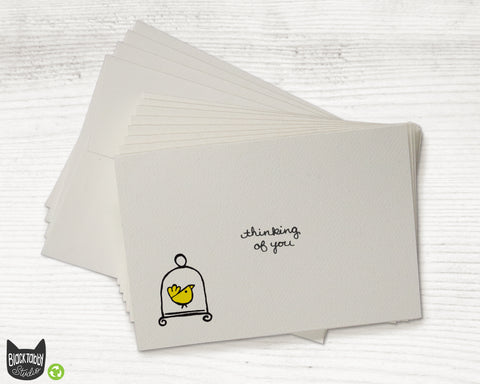 Little Yellow Bird - Thinking You Cards