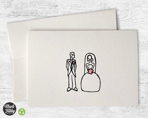 Bride and Groom - Greeting Cards