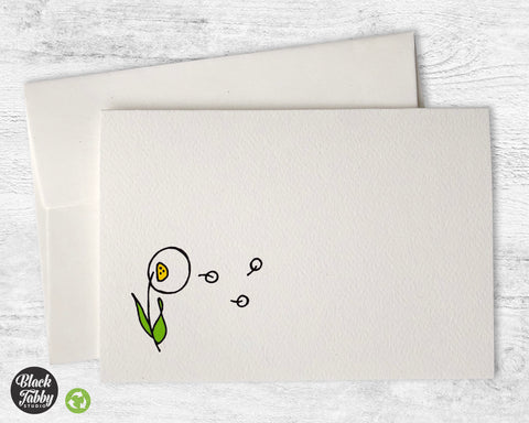 Dandelion in the Breeze - Greeting Cards