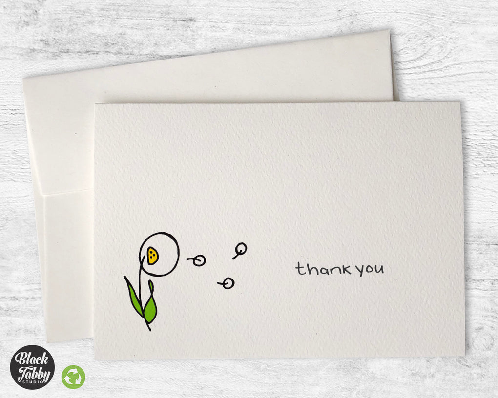 Dandelion in the Breeze - Thank You Cards