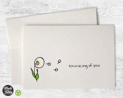 Dandelion in the Breeze - Thinking of You Cards