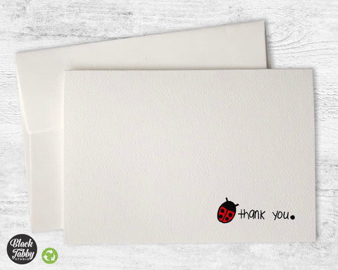 Pretty Little Ladybug - Thank You Cards