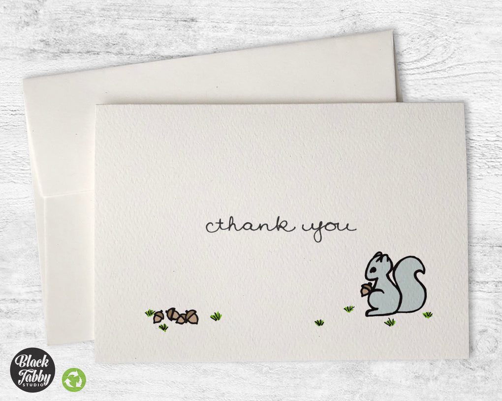 Silly Squirrel - Thank You Cards