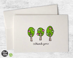 Lovely Spring Trees - Thank You Cards