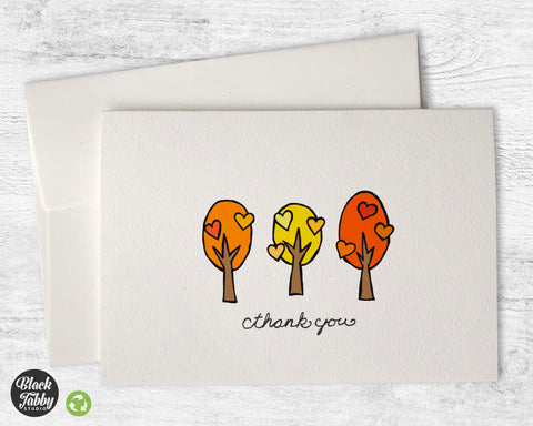 Lovely Fall Trees - Thank You Cards
