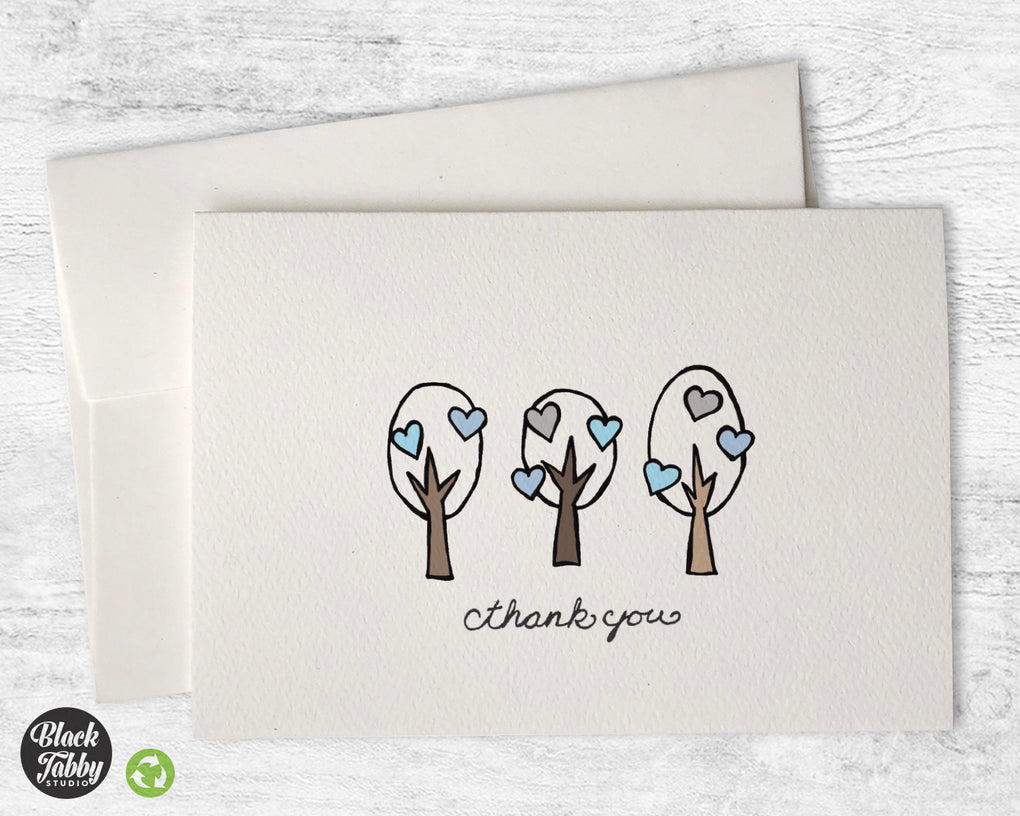 Lovely Winter Trees - Thank You Cards