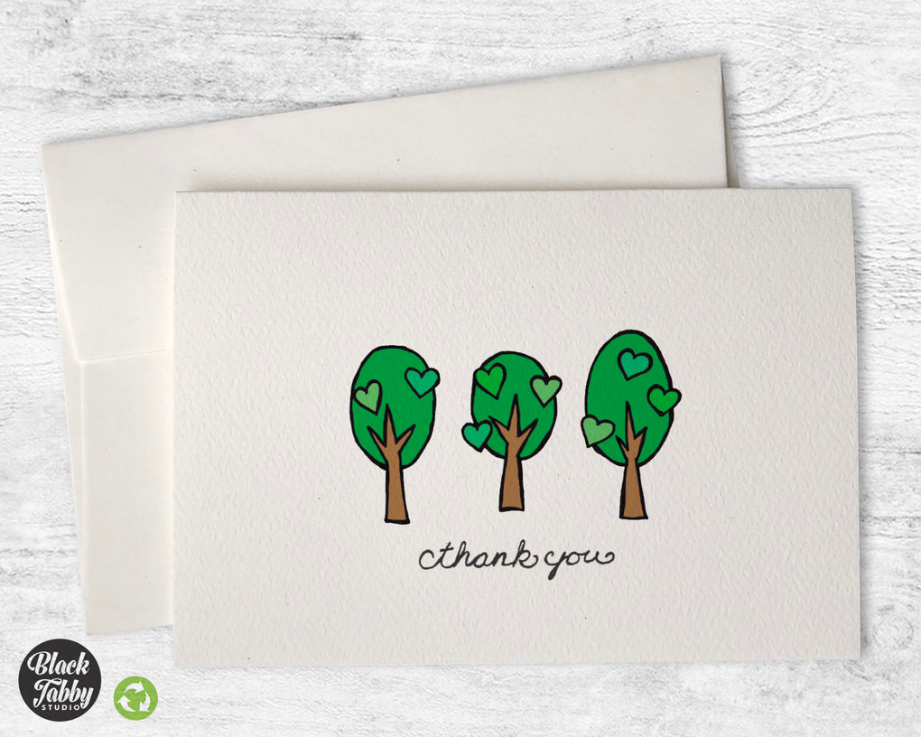 Lovely Summer Trees - CLEARANCE - Thank You Cards