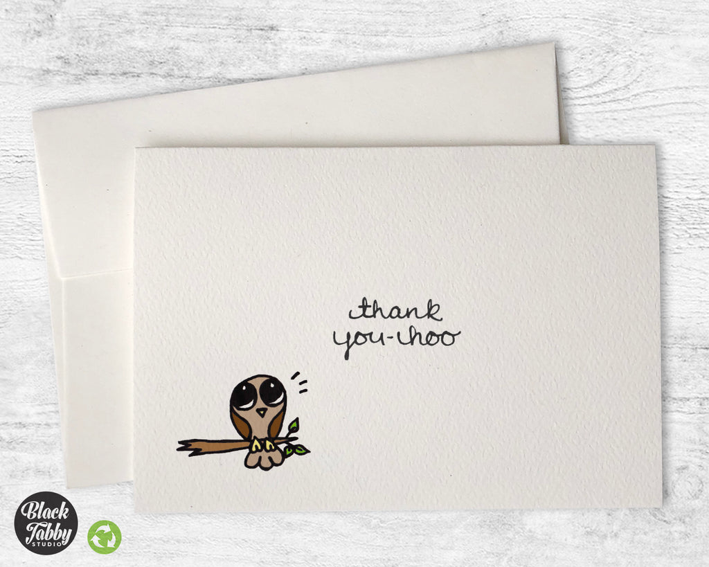 You-hoo Owl - Thank You Cards