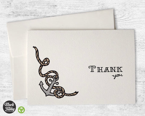 Anchors Aweigh - Thank You Cards