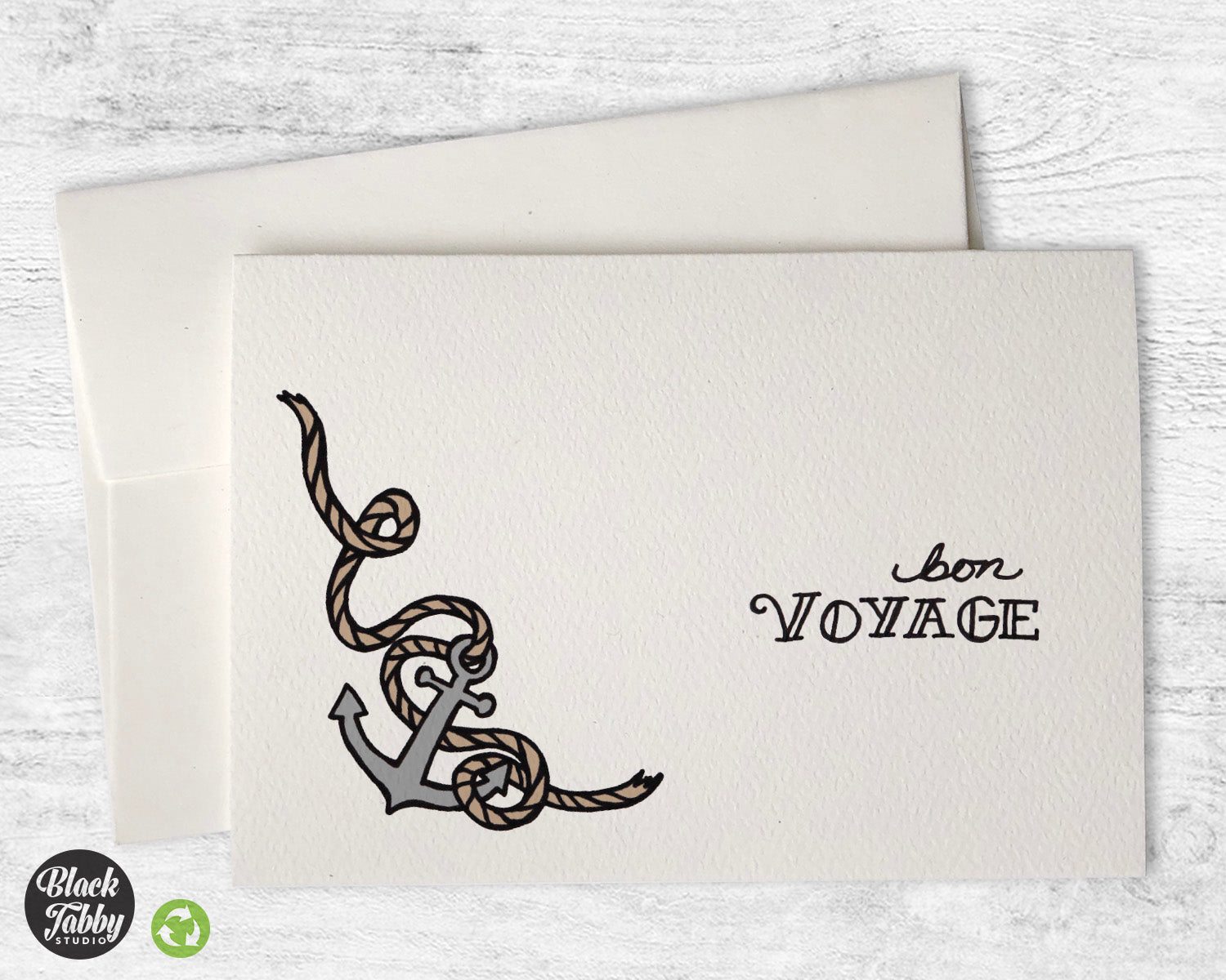 Anchors aweigh bon voyage greeting cards black tabby studio m4hsunfo