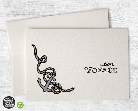 Anchors Aweigh - Bon Voyage Greeting Cards
