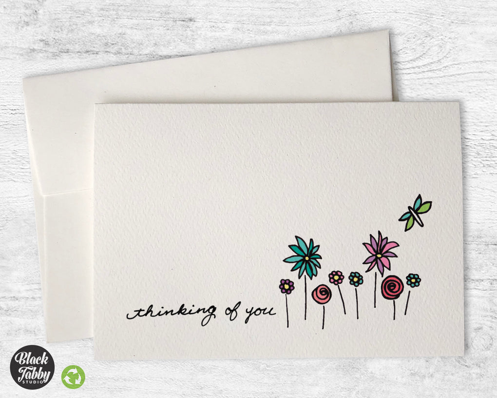 A Dragonfly in the Garden - CLEARANCE - Thinking of You Cards