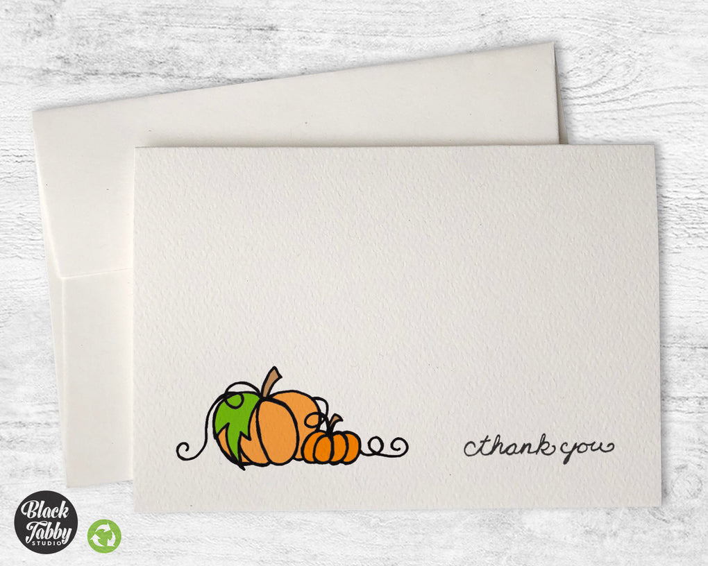 Autumn Pumpkins - Thank You Cards
