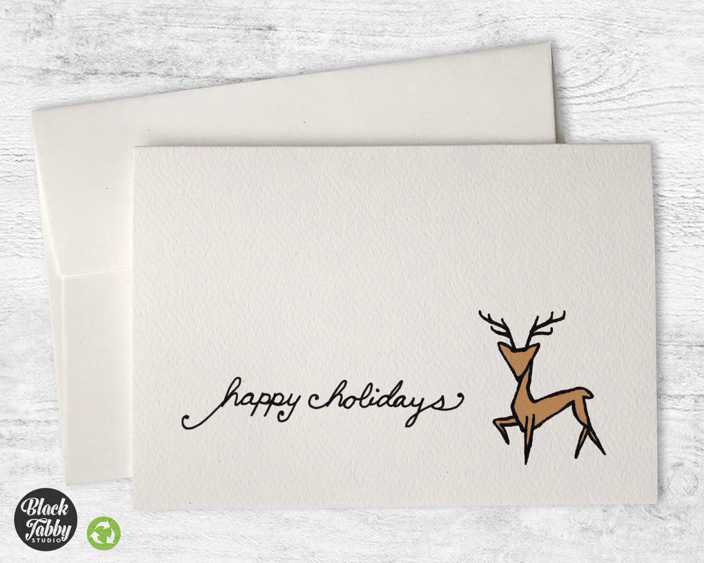 Majestic Reindeer - Happy Holidays Cards