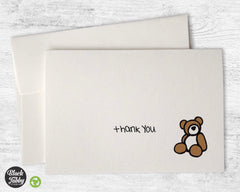Cuddly Teddy Bear - Thank You Cards