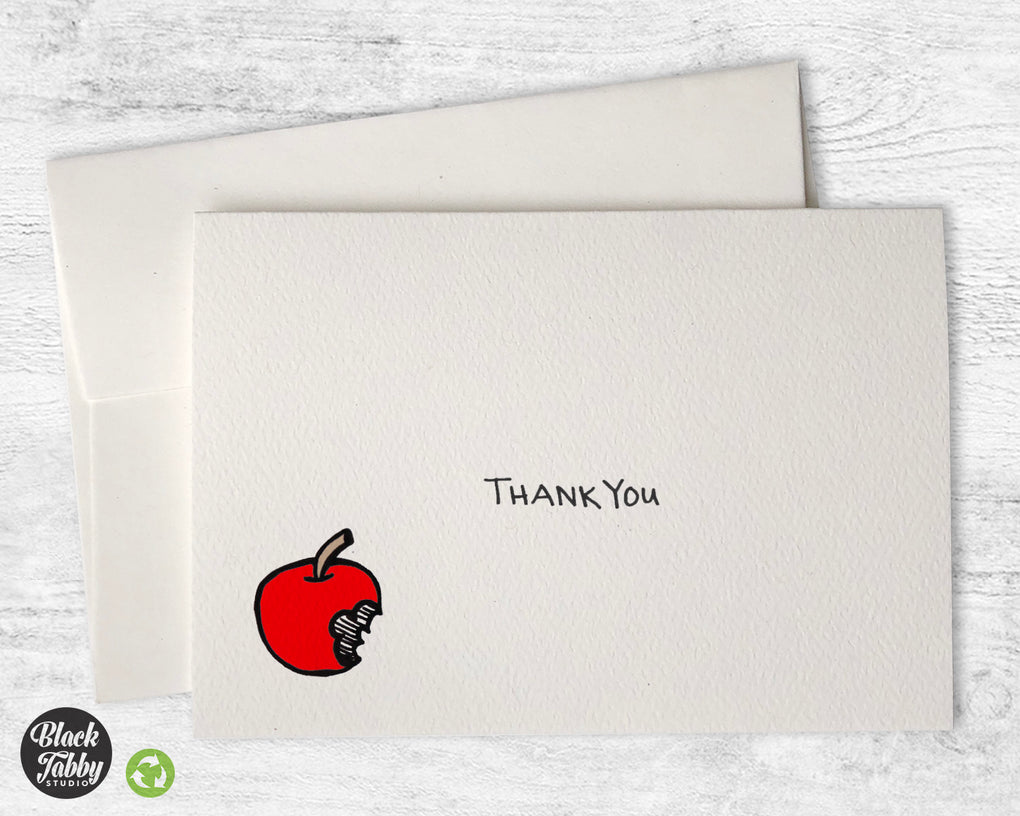 Bitten Apple - Thank You Cards