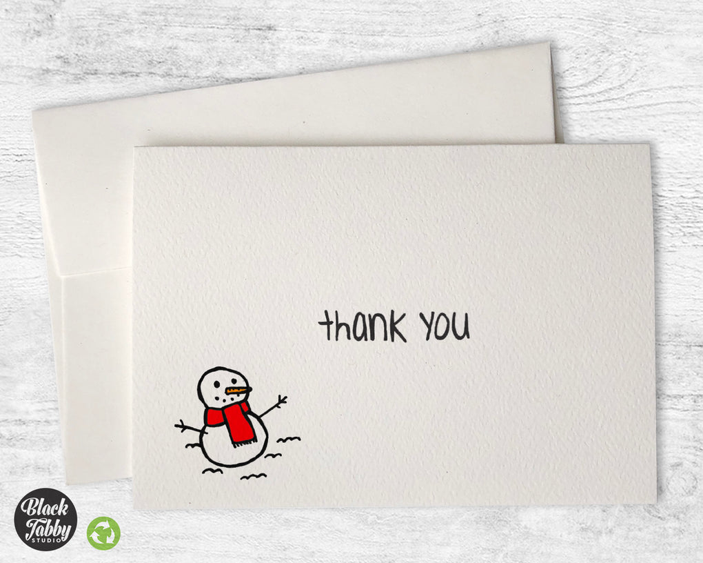 The Happy Snowman - Thank You Cards