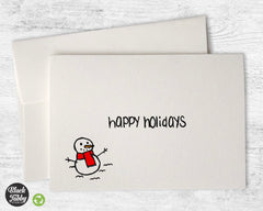 The Happy Snowman - Happy Holidays Cards