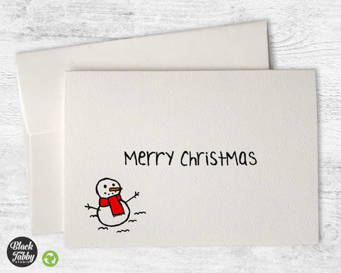 The Happy Snowman - Merry Christmas Cards