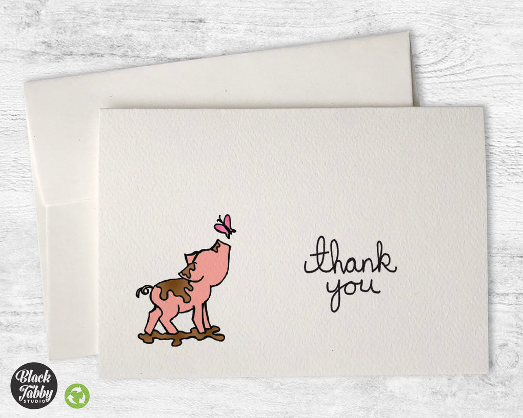 This Little Piggy - Thank You Cards