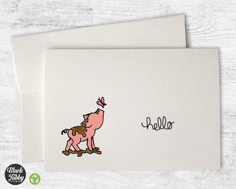 This Little Piggy - Hello Greeting Cards