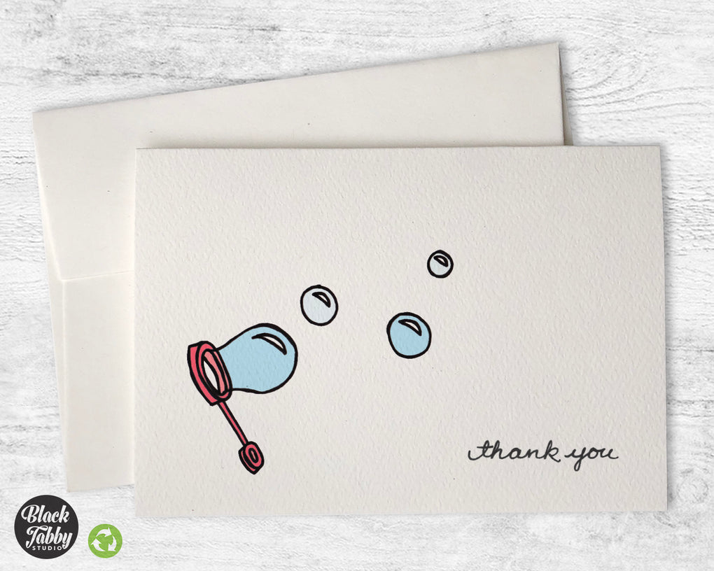 Bubbles - Thank You Cards