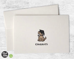 Graduate Dog - Graduation Congrats Cards