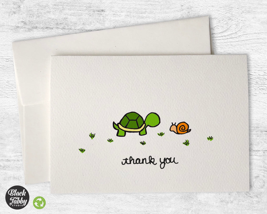 The Turtle & The Snail - CLEARANCE - Thank You Cards