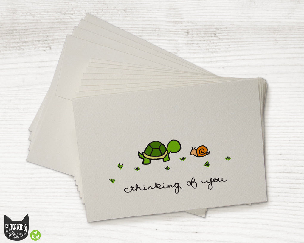 The Turtle & The Snail - CLEARANCE - Thinking of You Cards