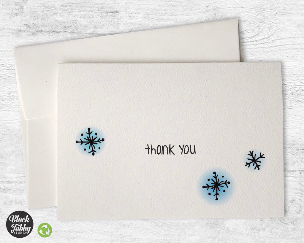 Dazzling Snowflakes - Thank You Cards