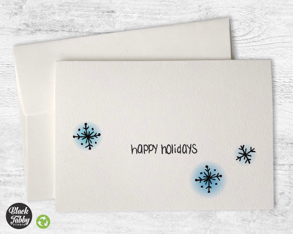 Dazzling Snowflakes - Happy Holidays Cards